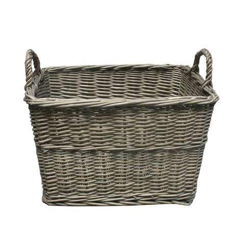 Willow Tapered Basket Shoe Storage Basket Wicker Basket Decor Wicker