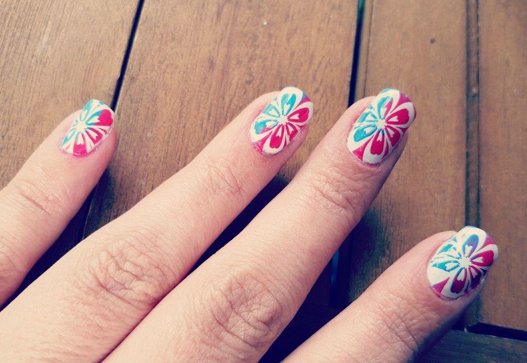 Nailart Stamping mit 2 Farben | Nails by Nitschi | Pinterest ...