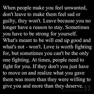 Quotes about feeling unwanted by your boyfriend