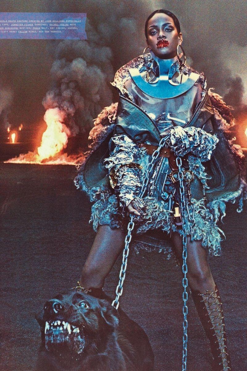 636b6ebe6cd8 Rihanna goes futuristic on the September 2016 cover of W Magazine posing  for Steven Klein