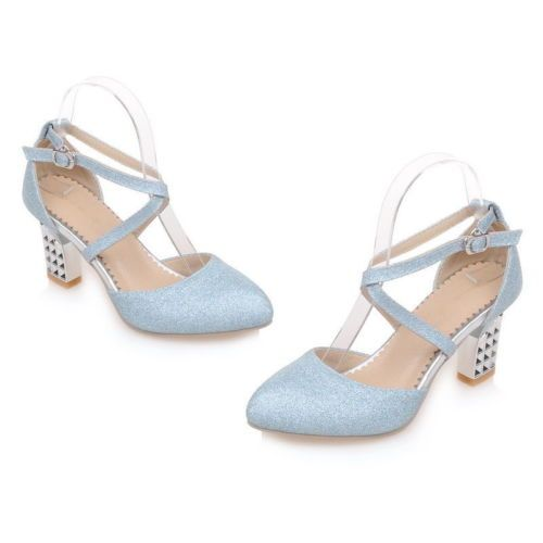 Elegant-Retro-Womens-Glitter-Dress-Mary-Janes-High-Heels-Ankle-Cross-Strap-Shoes