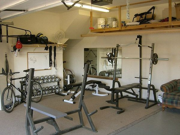 This is a very nice garage gym clean organized