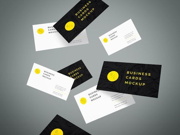 Flying business cards mockup vol4 inspirations designs when you design a business card you need to take advantage of these business card mockup psd designs in order to present your work reheart Choice Image