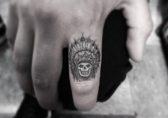 Tattoo By Dr Woo Skull Finger Tattoos Indian Skull Tattoos Tattoos