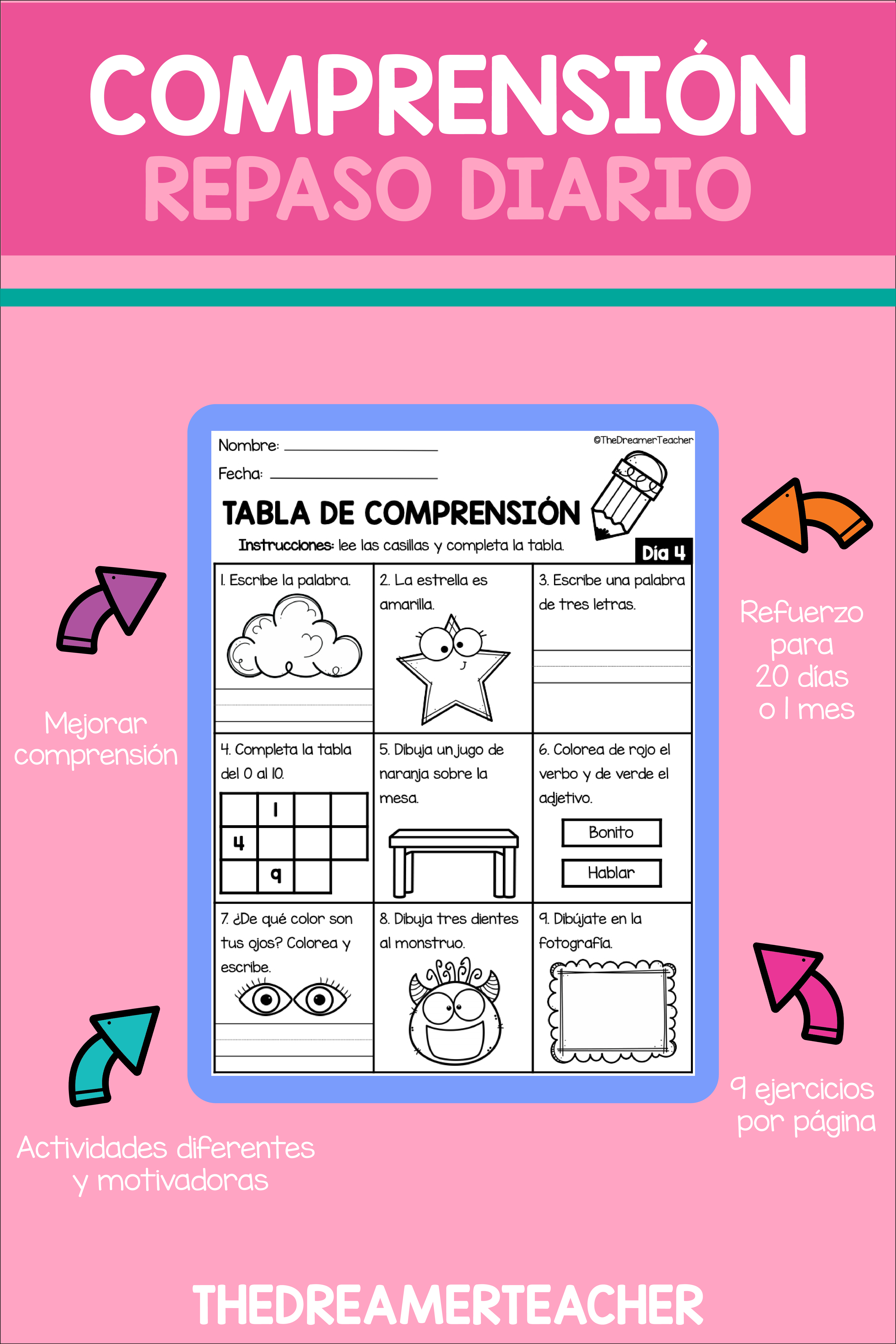 Spanish Reading Comprehension Worksheets Distance