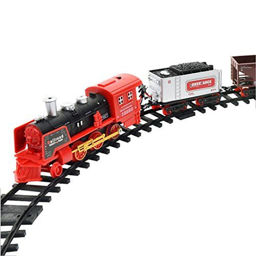 Iusun Rc Conveyance Car Electric Steam Smoke Remote Control Train Set Model Toy Gift Check Out The Image By Vis Model Trains Remote Control Train Train Sets