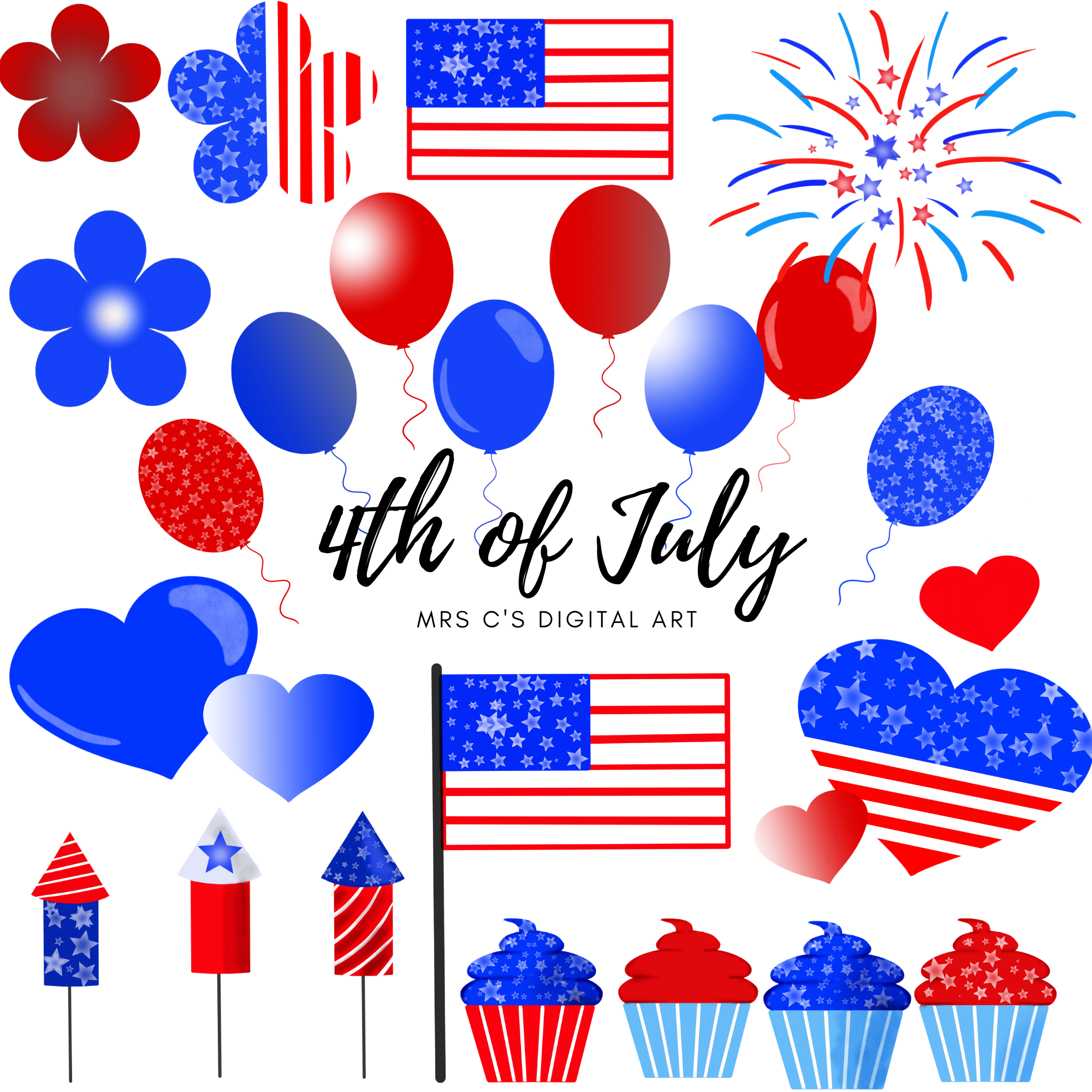 4th Of July Clipart Patriotic Clipart Memorial Clipart