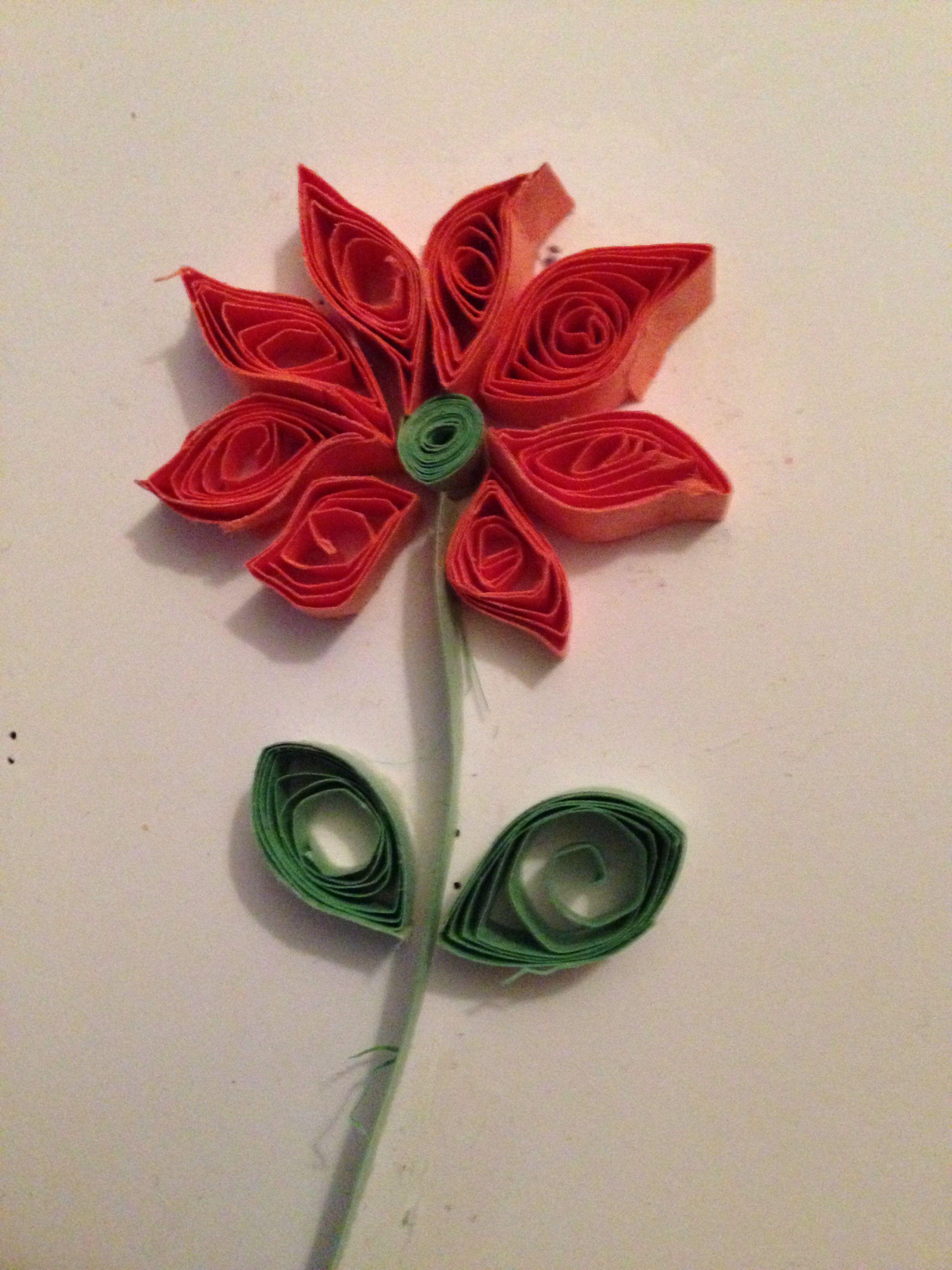 Orange Flower Paper Quilling Crafty Pinterest Flower Paper