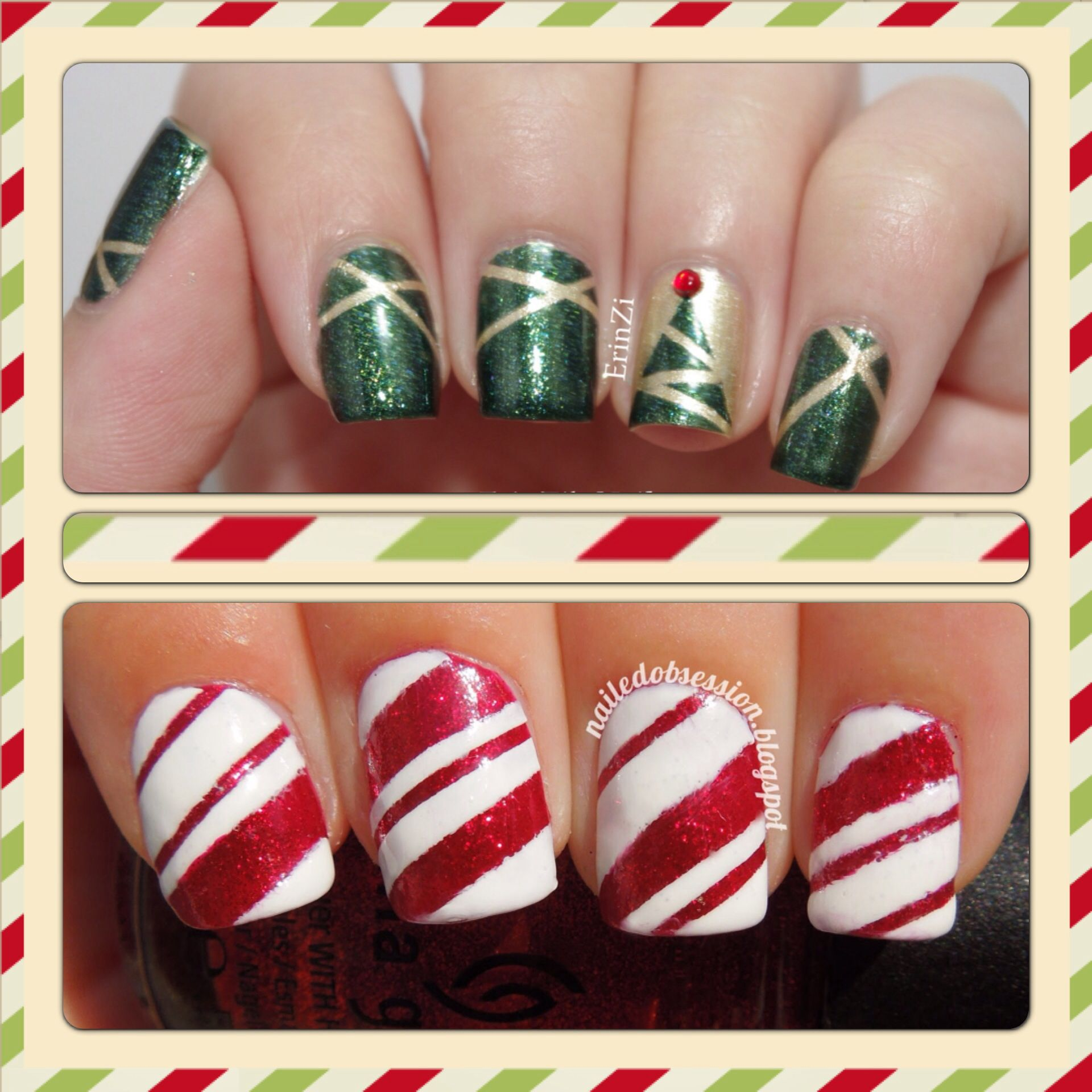 Christmas nail art | Make-Up/NailArt | Pinterest | Nail ...
