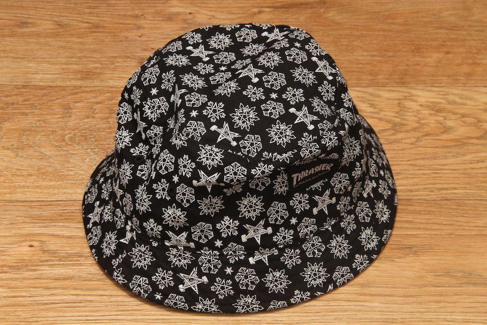 0096cc7c708 Thrasher Skategoat Snowflake Bucket Hat Black   White £29.95