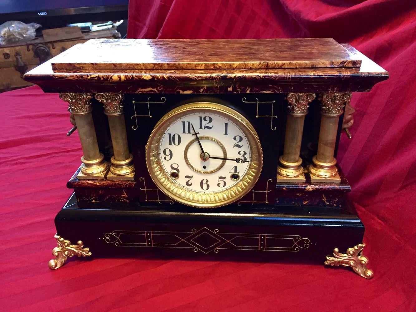 Seth Thomas Antique Mantle Clock Sold On Ebay 100 Years Old Antique Mantle Clock Mantle Clock Clock