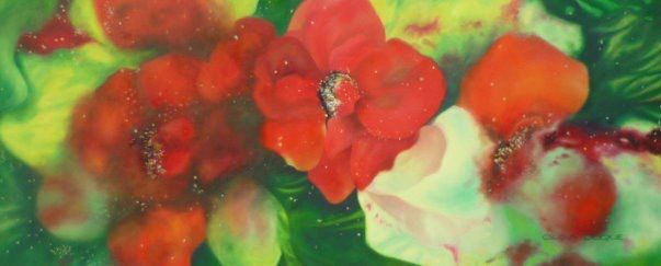 Óleo sobre lienzo 60 x 150 cm