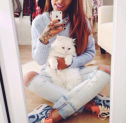 Imagem de cat, fashion, and style