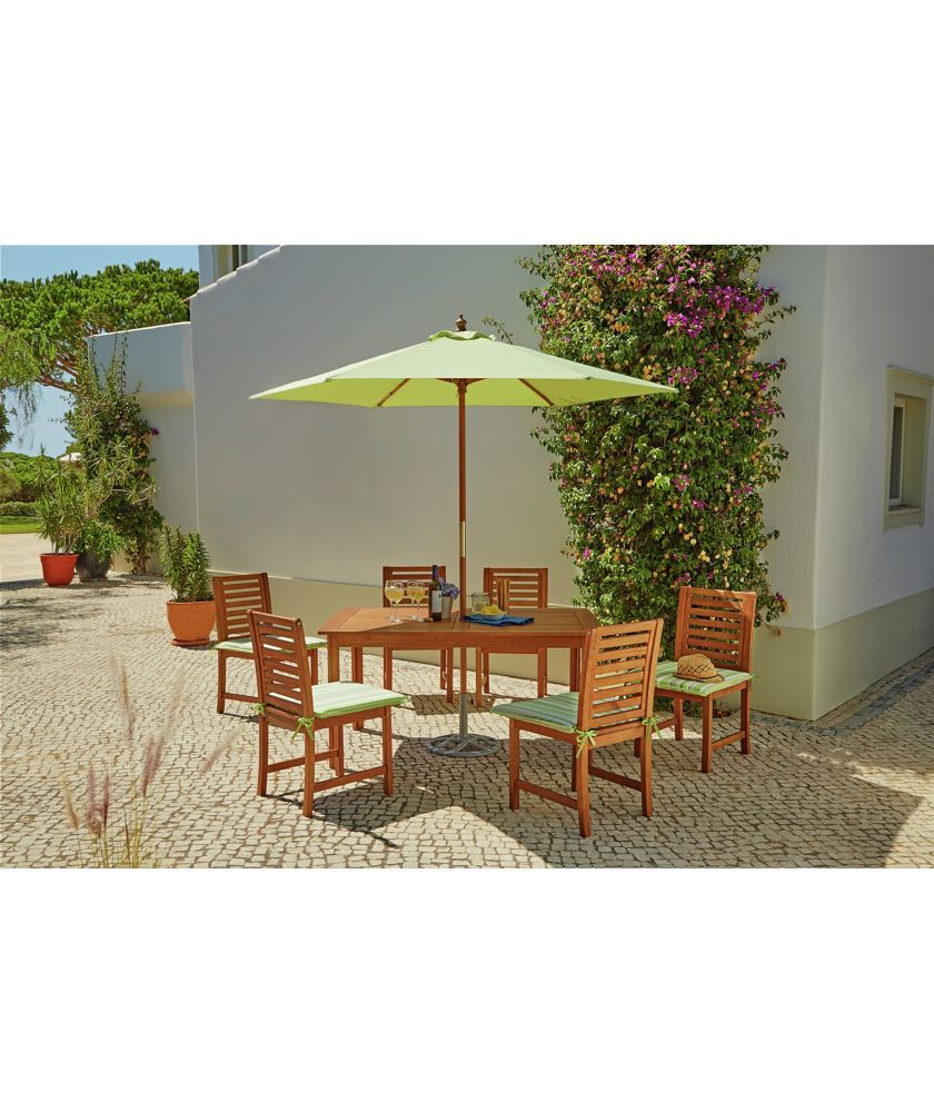 Buy madison 6 seater wooden patio set green at argos co uk your online shop for garden table and chair sets