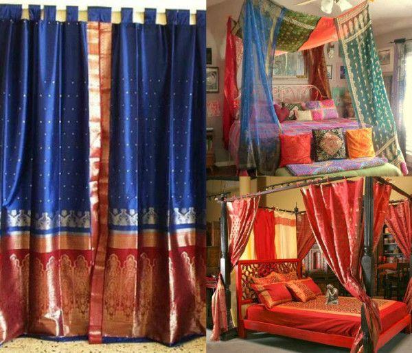Diy Home Decor Indian Style Tutorial: 15 Amazing Ways To Reuse Old Silk Sarees