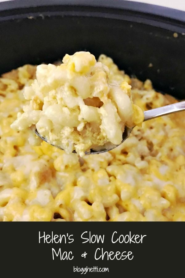 Helens Slow Cooker Creamy Mac amp Cheese This recipe for Helens Slow Cooker Mac and Cheese is a fam