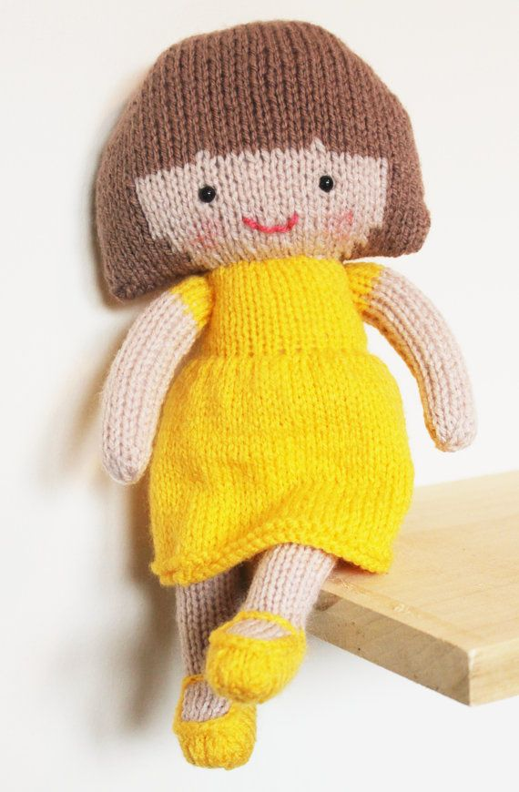 Saffron Doll Knitting Pattern Toy Rag Doll Pattern Pdf Par Elfpop