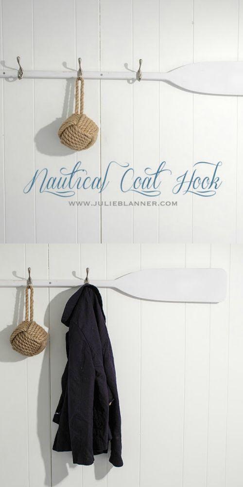 Nautical Coat Hook A Good Way To Organize Any Space Diy Coat Hooks Coat Hooks Nautical