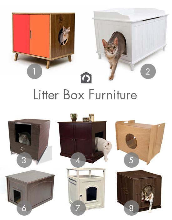 Stylish Ways To Hide The Litter Box Cat Litter Boxes Furniture Ideas And Furniture