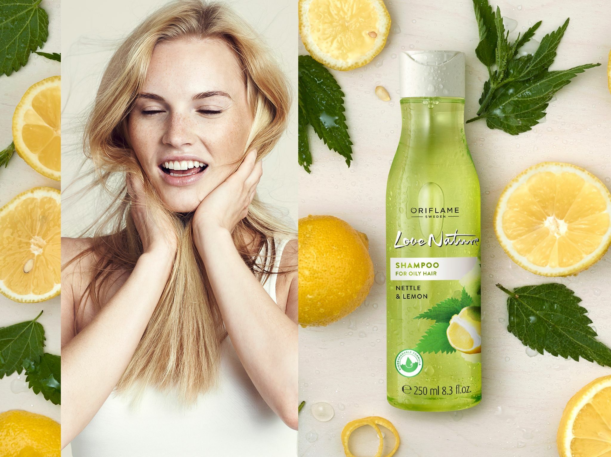 Love Nature Avocado Oil & Chamomile 2in1 Shampoo & Conditioner Beauty Inspiration Oriflame Cosmetics Pinterest