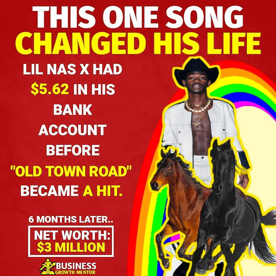 From Rags To Riches In Less Than A Year By Posting Memes With The Song Old Town Road He S Been Able To Ge Promote Book From Rags To Riches Instagram Prints