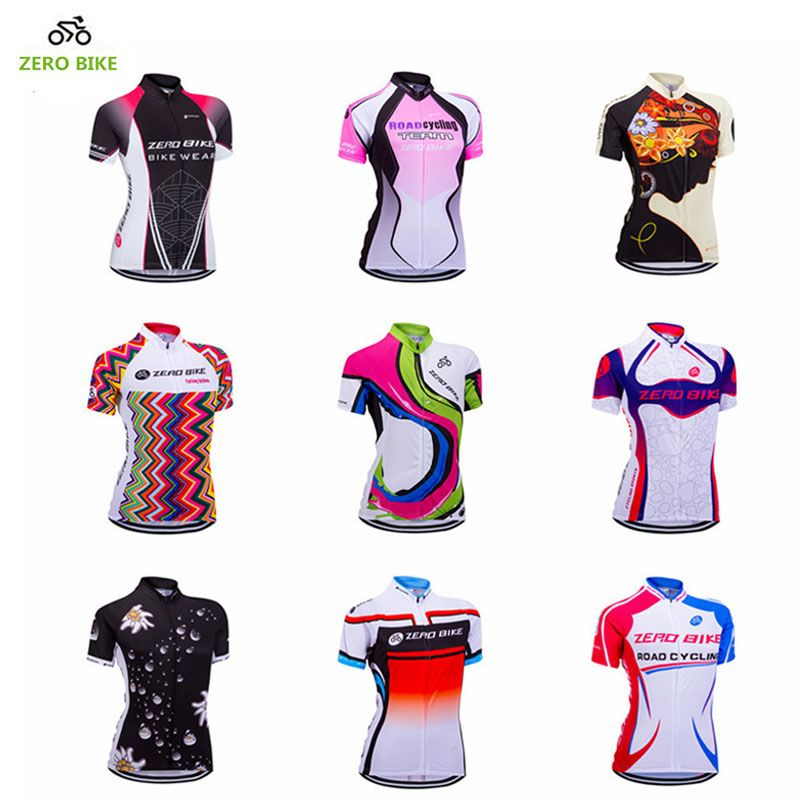 Download Zerobike Women S Short Sleeve Cycling Jersey Quick Dry Breathable Mtb Bike Clothing Full Zip Tops T Shirt Ropa Roupas De Ciclismo Camisas De Futebol Camisetas