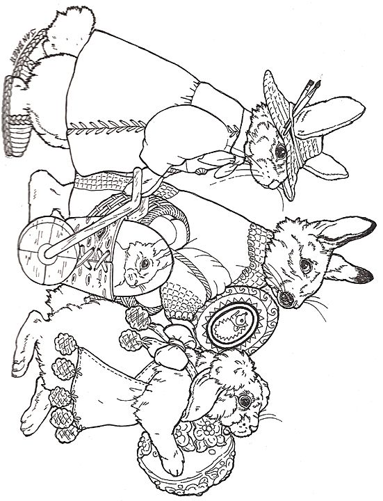 Easter Parade Coloring Page | Coloring Pages | Easter ...