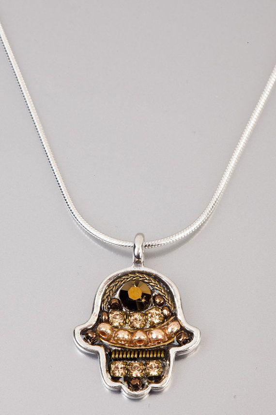 Arabic lucky talisman Chamsa  Silver Chamsa by NoyJewelry on Etsy, $65.00