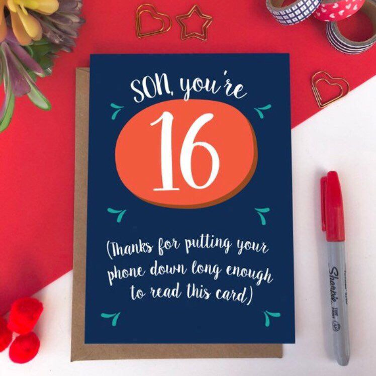 Funny Son 16th Birthday Card Thanks For Putting Your Phone Etsy Birthday Cards For Son Birthday Cards 16th Birthday Card