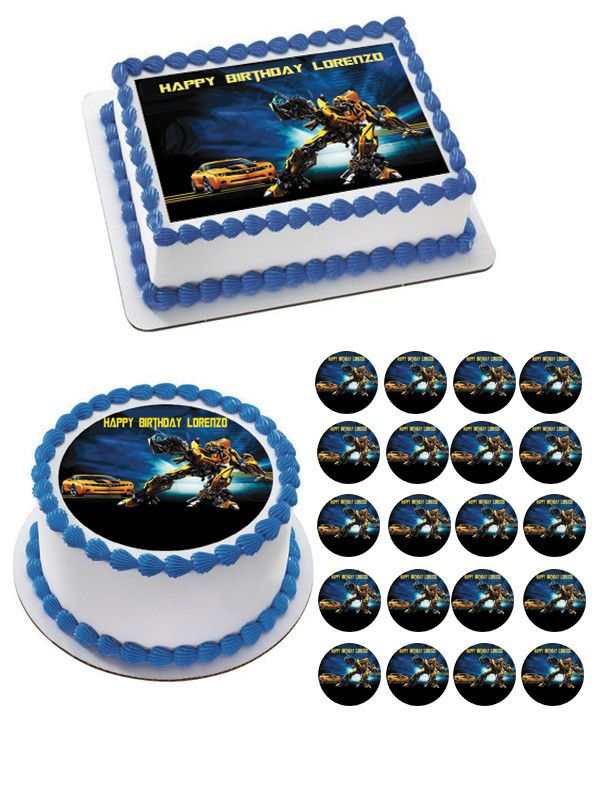 30 x Transformers Edible rice paper or Icing Cup Cake Topper