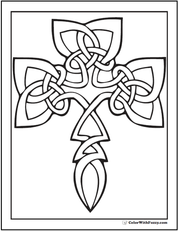 90 Celtic Coloring Pages Irish Scottish Gaelic Adult Coloring