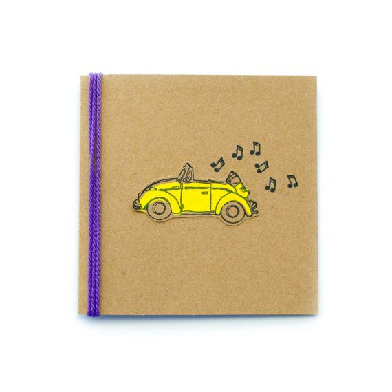 Get Your Shine On Volkswagen Punch Bug Card by TheHappyCanary on Etsy