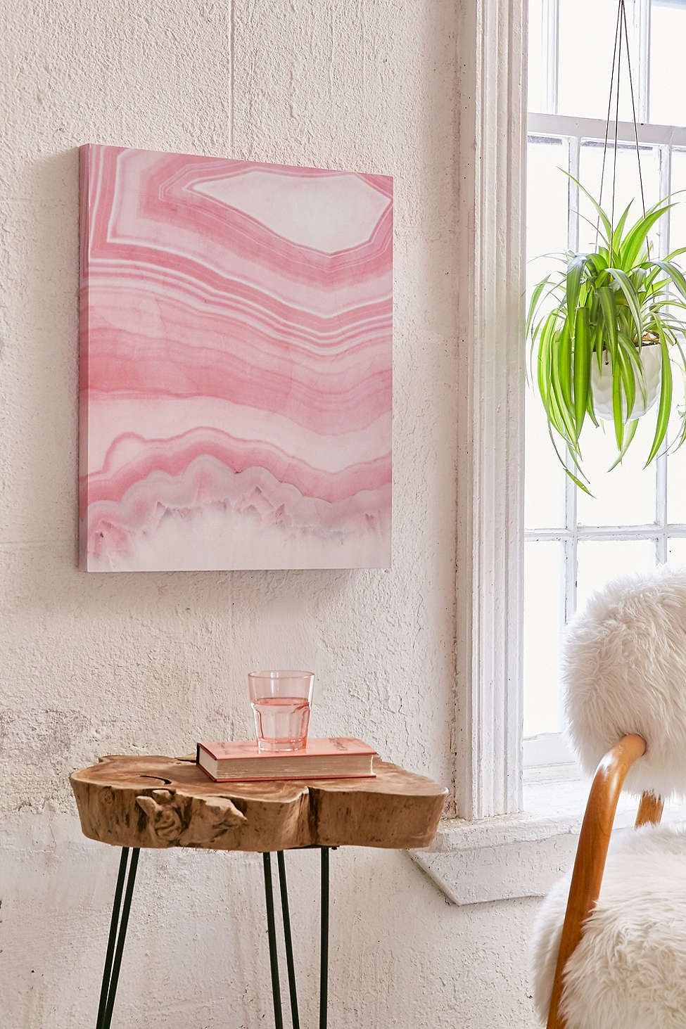 emanuela carratoni for deny sweet pink agate canvas wall on canvas wall art id=65986