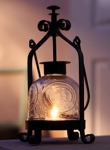 Candle by the Hour 40-Hour Hurricane Lantern Black