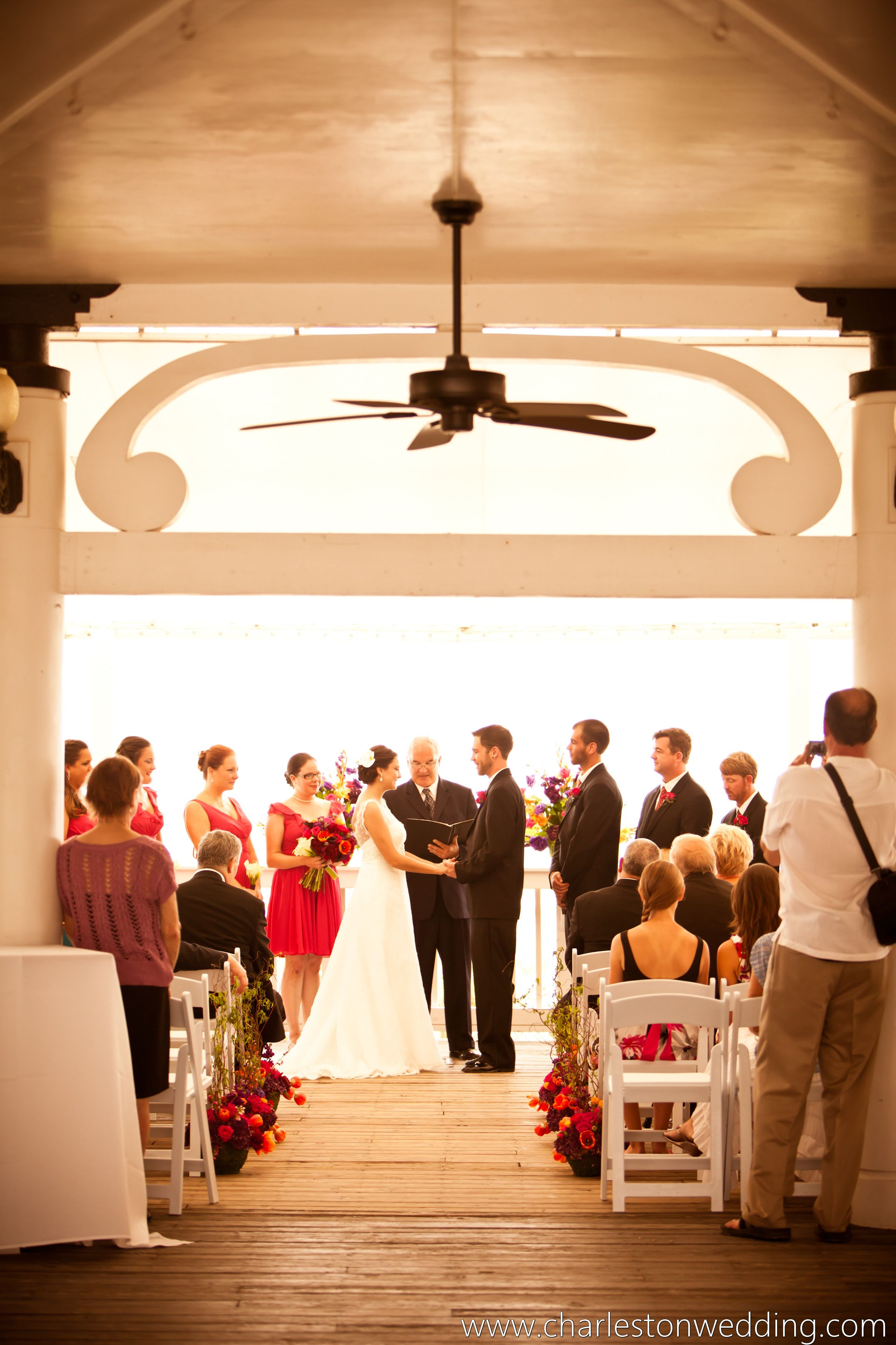 Perfect day for a wedding ceremony at Wild Dunes in the Gazebo.