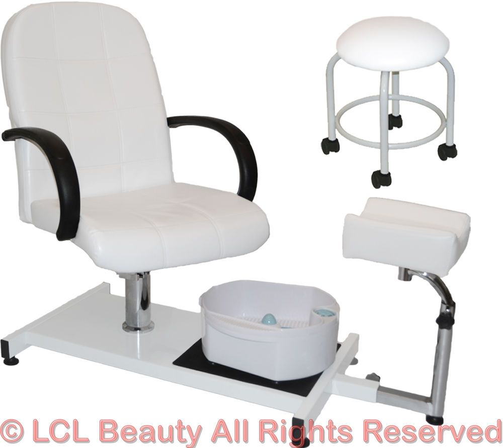 details about white pedicure station hydraulic chair massage foot rh pinterest com