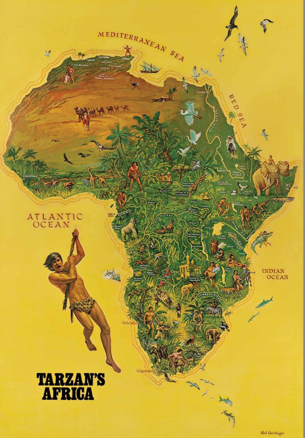 Map Of African Jungle.17 Most Beautiful Maps Of Africa African Painting Men Women