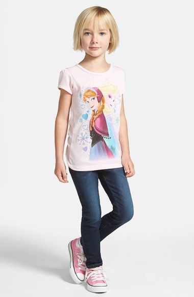 Frozen Frenzy!!   Mighty Fine Disney's Frozen Graphic Tee (Toddler Girls, Little Girls & Big Girls) available at #Nordstrom -