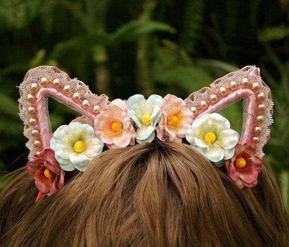 Neko Cat ears headband Fantasy hair accessory by SpiritKawaii, $15.00