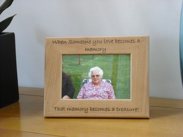 when someone you love becomes a memory engraved memorial wood photo frame