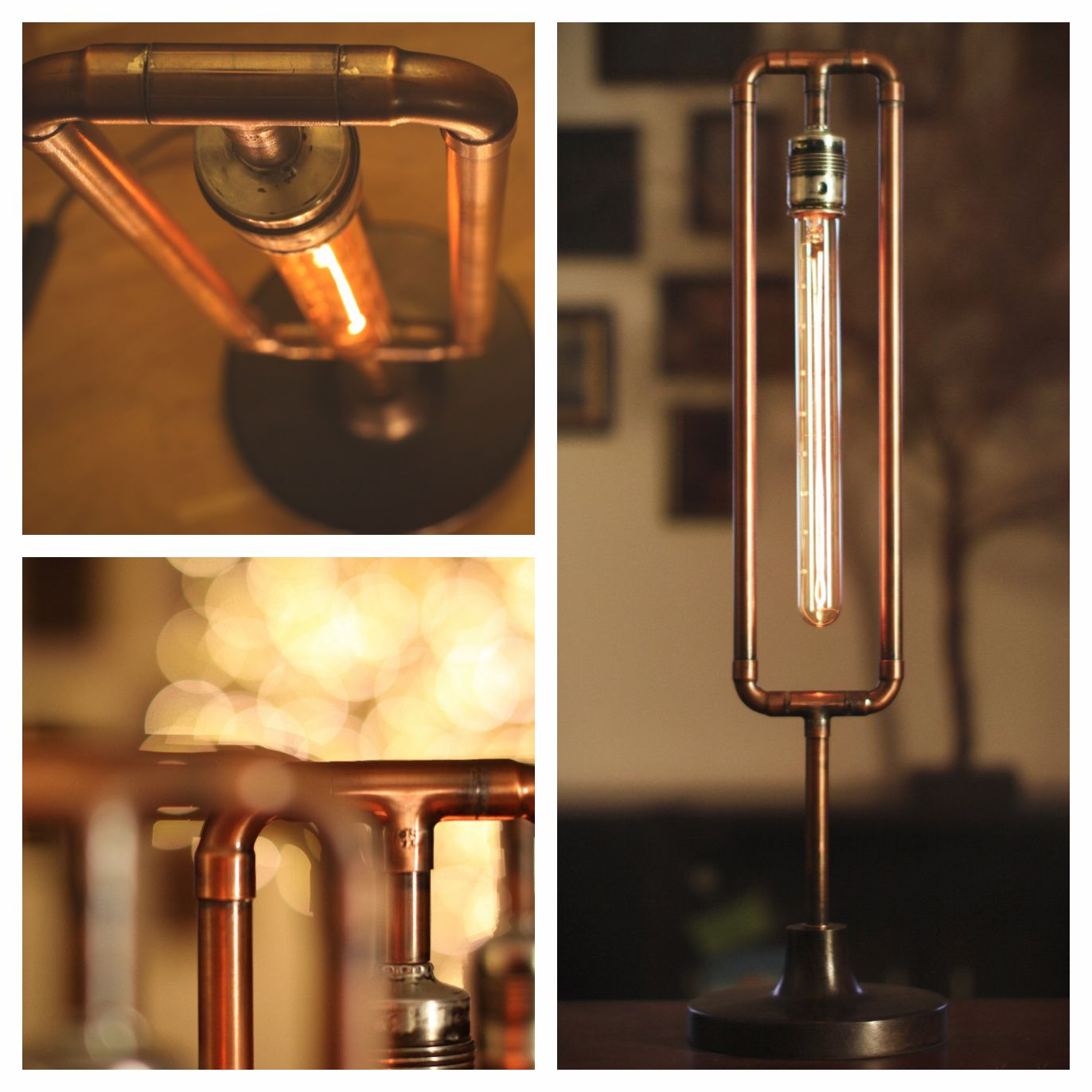 Lampe Kupfer Industrial Filament Lamp By Budavari Smith Budavari Viosmith