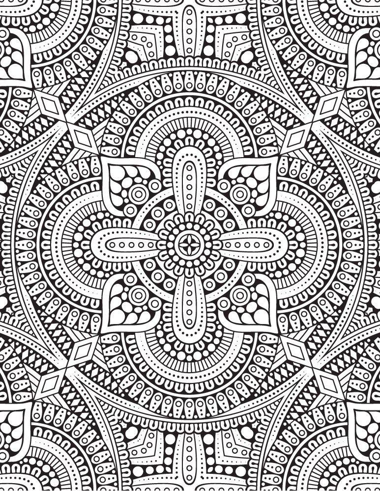 Complexe Mandala Designs Coloriage Gratuit A Imprimer Coloriage
