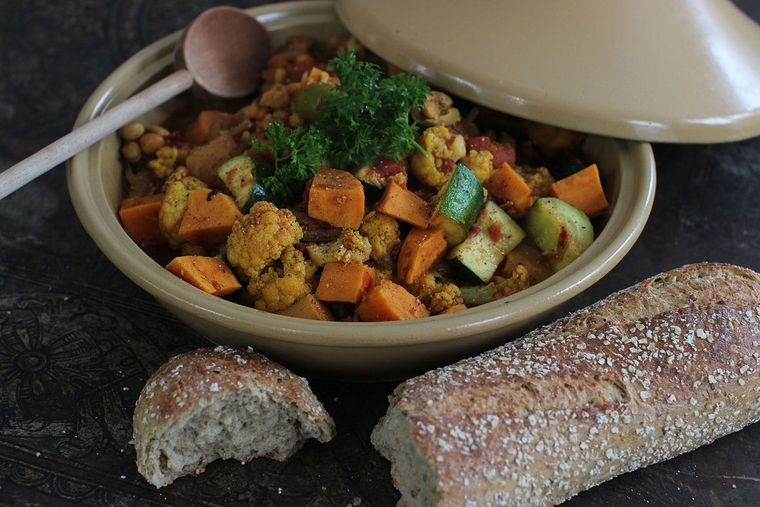 Winter begs for stew. Try a simple and speedy veggie tagine