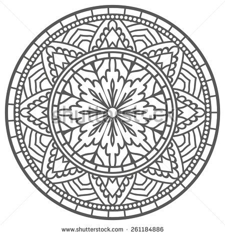 Mandala For Painting. Vector Ethnic Oriental Circle
