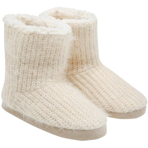 Mco Knitted Slipper Boots 14 Liked On Polyvore Featuring