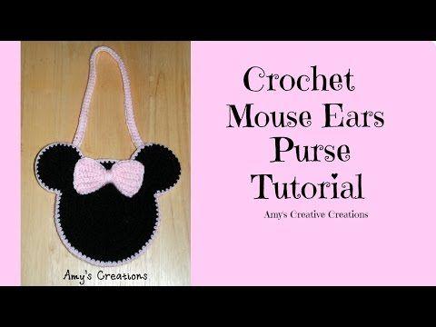 Amy\'s Crochet Creative Creations: Crochet Mouse Ears Purse | mickey ...