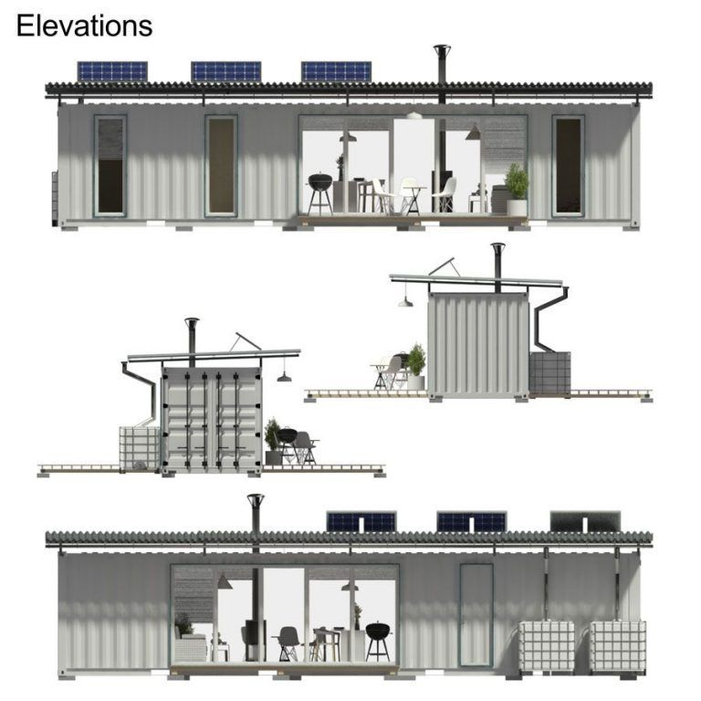 40ft Shipping Container House Floor Plans With 2 Bedrooms In 2020 Container House Plans Shipping Container House Plans Building A Container Home