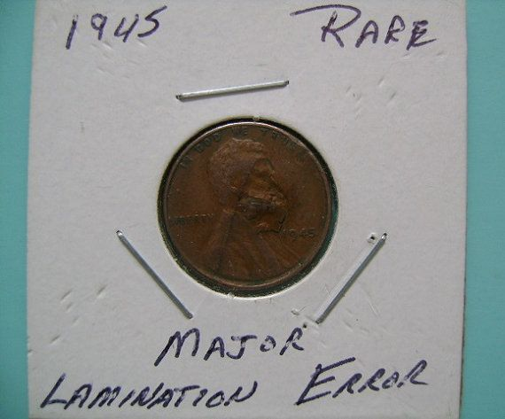 RESERVED Error 1945 US American Lincoln Wheat Penny Coin One Cent