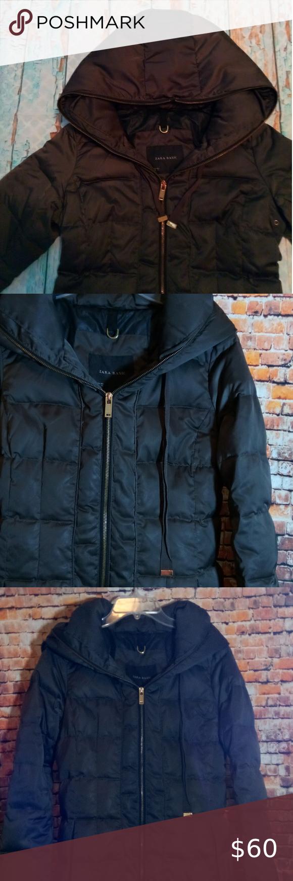 Zara Basic Coat Hooded Zara Basic Zara Hooded Coat [ 1740 x 580 Pixel ]