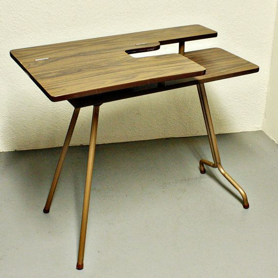 Vintage sewing table - sewing machine table - Pfaff 297 ...